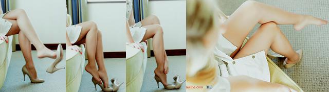 Leggy Pauline sexy legs