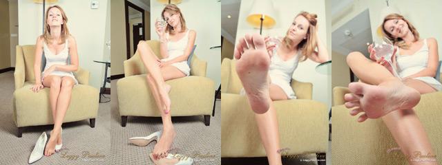 Sexy bare soles POV